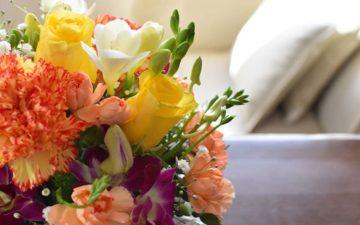 応接室に花